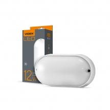 LED світильник IP65 овальний VIDEX 12W 5000K білий