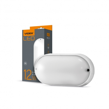 LED lamp IP65 oval VIDEX 12W 5000K white